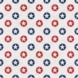 Seamless polka dot pattern with stars in american national flag — Stock Vector #11302082