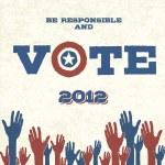 Vote! Retro poster, vector illustration, EPS10 — Stock Vector #11302083