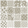 Variety styles seamless patterns set. All patterns available in — Imagens vectoriais em stock