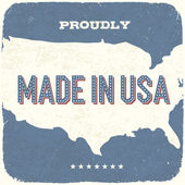 Proudly Made in USA. Vintage Background, Vector, EPS10. — Stock Vector