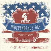 独立日庆祝活动的海报。矢量 eps10 — 图库矢量图片