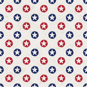 Seamless polka dot pattern with stars in american national flag — Stock Vector