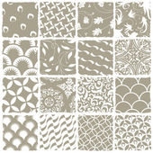Variety styles seamless patterns set. All patterns available in — Stock Vector