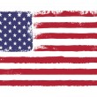 Постер, плакат: Stars and stripes Grunge version of American flag with 50 stars