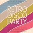 Stock Vector: Retro disco party. Abstract flyer design template, vector, EPS10