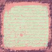 Vintage cute handwrinigs seamless pattern with grunge frame and — Vecteur
