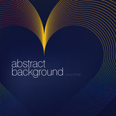 Colorful heart shaped lines abstract background.Vector, EPS8 — Stock Vector