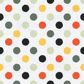 Seamless variegated polka dot pattern. Vector, EPS10 — Stock Vector