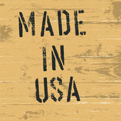 """Vintage western styled sign """"Made in USA"""". Vector, EPS8 — Stok Vektör"""