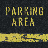 Parking area sign on asphalt background. Vector, EPS10 — Stock Vector