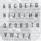 Alphabet de pochoir de grunge. vecteur, eps10 — Vecteur