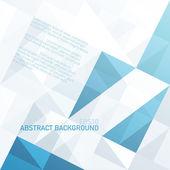 Abstrakt geometrisk bakgrund med blå trianglar och utrymme fo — Stockvektor