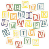 Baby blocks alphabet collection. Vector, EPS8 — Stock Vector
