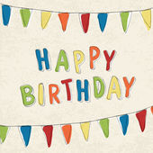 Zadowolony urodziny karty. wektor, eps10 — Wektor stockowy