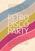 Retro disco party. Abstract flyer design template, vector, EPS10 — Stock Vector