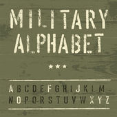 Military Vintage Alphabet. Vector, EPS10 — Stockvector