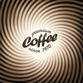 Abstract coffee background design template. Vector, EPS10 — Vecteur