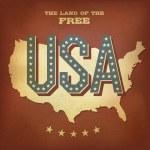 USA abstract retro poster design. Vector, EPS10 — Stock Vector #11978742