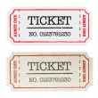 Vintage paper ticket, two versions. Vector illustration, EPS10. — Stock Vector #11978806