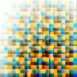 Abstract mosaic background. Vector illustration, EPS10 — Stock Vector