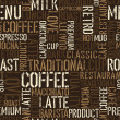 Seamless coffee experience pattern. Vector, EPS8. — Stok Vektör