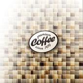 Coffee themed abstract design template. Vector, EPS10 — Stock Vector