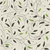 Seamless ecology pattern with leaves. Vector, EPS10 — Vector de stock