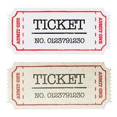 Biglietto cartaceo d'epoca, due versioni. illustrazione vettoriale, eps10. — Vettoriale Stock