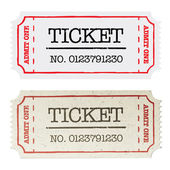 Vintage paper ticket, two versions. Vector illustration, EPS10. — Vettoriale Stock