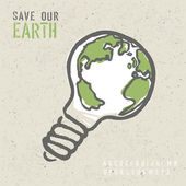 Global ecology concept. Vector, EPS10 — Stock Vector