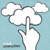 クラウドコンピューティングの概念図では、eps10 — ストックベクタ