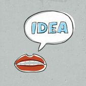 Abstract lips talk idea word. Vector illustration, EPS10 — Stock Vector