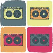 Audio cassette pop-art concept. Vector, EPS8 — Stock Vector