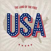 美国抽象海报设计、 矢量、 eps10 — 图库矢量图片