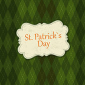 Saint Patrick's Day Card Design Template. Vector, EPS10 — Stock Vector