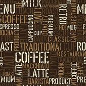 Naadloze koffie ervaring patroon. vector, eps8. — Stockvector