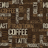 Seamless coffee experience pattern. Vector, EPS8. — Stockvector