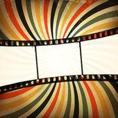 Grunge film strip background. Vector, EPS10 — Stock Vector