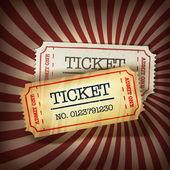 Golden and regular tickets concept illustration. Vector, EPS10 — Stock Vector