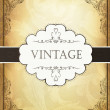Royalty-Free Stock Imagen vectorial: Vintage background with ornamental frame. Vector illustration, E