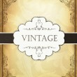 Royalty-Free Stock Immagine Vettoriale: Vintage background with ornamental frame. Vector illustration, E