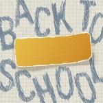 terug naar school. onderwijs thema abstracte achtergrond, vector ziek — Stockvector
