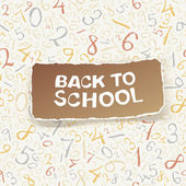Back to school on chaotic numbers seamless pattern. Vector, EPS1 — Vector de stock