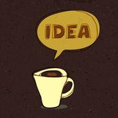 Kaffeetasse idee. konzept-illustration, vektor, eps10 — Stockvektor