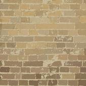 Beige brick wall texture. Vector, EPS10 — Stock Vector