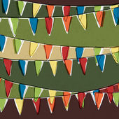 Party pennant bunting. Happy holiday background, vector, EPS10 — Stock Vector
