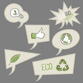 Ecology icons in speech bubbles. Vector elements collection, EPS — Stock Vector