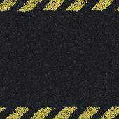 Hazard yellow lines background. Vector illustration, EPS8 — Stock Vector