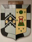 Gonville en caius college cambridge wapenschild — Stockfoto