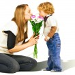 Stock Photo: Flowers for Mom